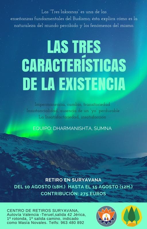 Retiro Centro budista de Valencia 10 a 15 agosto